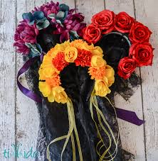 day of the dead headband day of the dead flower headpiece tutorial tikkido