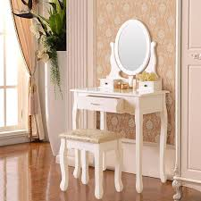 Small Mirrored Vanity Bedroom Furniture Sets Black Makeup Table Desk With Drawers And