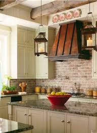 faux brick backsplash ceramic tile that looks like red brick
