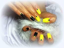 black and yellow nails polish nail art design pinterest