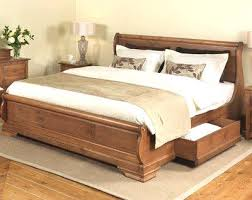 Solid Wood Sleigh Bed Design King Size Bed Frame Wood Solid Wooden Sleigh Beds Up To 8ft