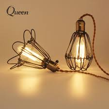 wire light bulb cage abat jour fer l cover shade guard black metal bulb birdcage