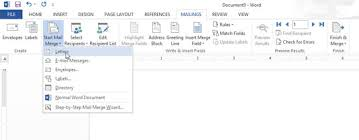 create a mail merge letter in word 2013 dummies
