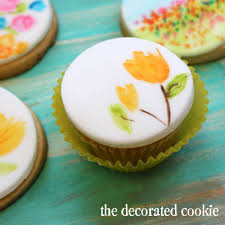 calling all cupcake artists paint a watercolor on your next cupcake