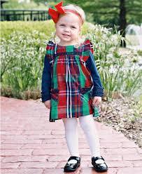 little girls jumper girls plaid holiday dress rufflebutts