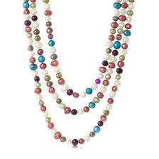 multi colored necklace images Freshwater pearl necklaces jpg