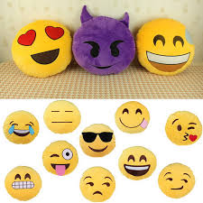 baby love soft emoji smiley emoticon round cushion pillow sofa