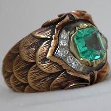 mens rings antique images Fay cullen archives rings gold vintage emerald men 39 s ring jpg