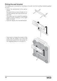 fitting the wall bracket seca 869 user manual page 18 102