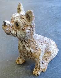 tiny sitting cairn terrier ceramics