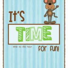 it u0027s time for fun clock activity to the hour have fun teaching