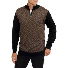 club s jacquard 1 4 zip mock neck sweater walmart