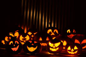 lighted halloween pumpkins pumpkins wallpaper
