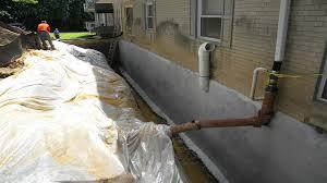 basement waterproofing french drain and wet basement repair