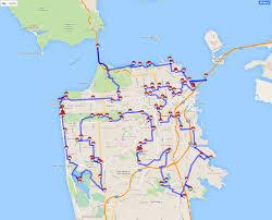 San Francisco Walking Map by Pokemon Go Traveling Salesman Problem