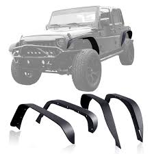 jeep fender flares jk amazon com genssi custom steel black textured fender flare set