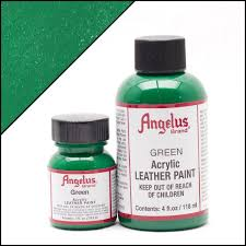 angelus green paint angelus acrylic leather paints