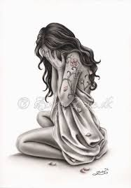 imagenes llorando emos petals of sorrow sad crying woman rose tattoo art print emo fantasy