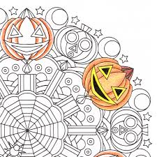 whacko jack o u0027 halloween mandala candyhippie coloring pages