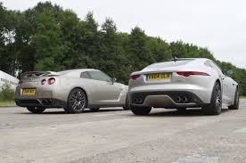 youtube lexus lfa vs nissan gtr nissan gt r versus jaguar f type r awd coupé drag race youtube