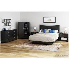 south shore step one queen size platform bed in pure black 3070233 step one queen size platform bed in pure black