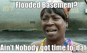 Flooded Basement Meme - ain t nobody got time fo flooded basements by baconluver25 meme