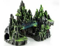 view aquarium ornament tree house cave bridge fish tank decoration 7