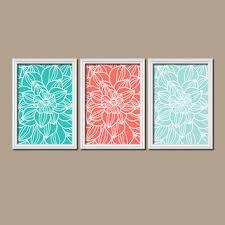 Turquoise And Coral Bedroom Shop Turquoise Wall Picture On Wanelo