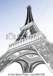 vectors of eiffel tower vector illustration csp13901736 search