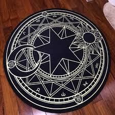 Black Circle Rug Aliexpress Com Buy Crystal Velvet Fabric Star Moon Triangle