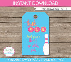 Diy Bowling Favors by Bowling Birthday Favor Tags Thank You Tags