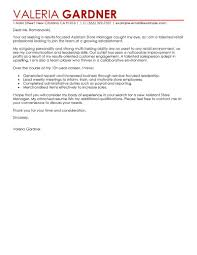 Cover Letter For An Administrative Assistant Best Retail Assistant Store Manager Cover Letter Examples Livecareer