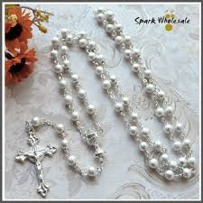 wedding rosary aliexpress buy catholic 6mm silver brass rosary necklace