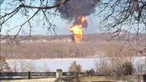 Galena Illinois Fires Finally Dwindling Days After Illinois Oil Train Derailment