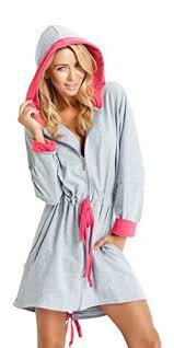 comment faire une robe de chambre femme robe de chambre courte avec capuche doux et leger avec la