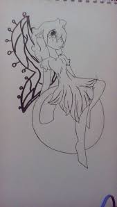 water fairy outline by chezcatclaire on deviantart