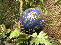 What To Do With Leftover Tile by How To Make A Mosaic Garden Gazing Ball Hgtv