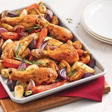 poulet cuisine pilons de poulet aux légumes racines recettes cuisine et