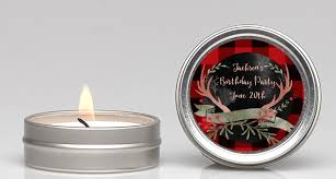 candles and favors lumberjack buffalo plaid candle favors candles favors