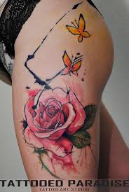 butterflies tattoos on leg 69 best femme tattoos images on pinterest draw beautiful