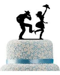 western cake topper deals on buythrow country wedding cake topper cowboy and