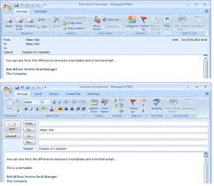 creating and using templates in outlook 2007 and outlook 2010 to