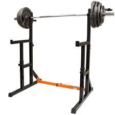 mirafit adjustable squat rack with dip bars u0026 multi position