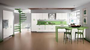 awesome kitchen backsplash design with green white theme furniture