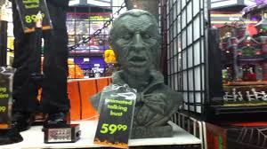 halloween busts michaels 2011 animated talking bust youtube