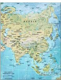 asia map and countries geography for asian countries and the continent of asia