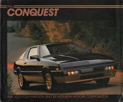 mitsubishi conquest chrysler 1984 conquest plymouth sales brochure