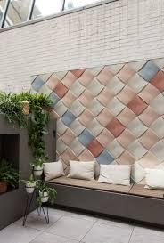 note design creates bulging weave effect tiles for kaza concrete