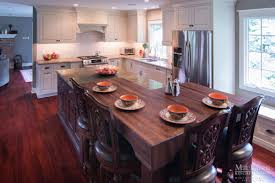 Butcher Block Kitchen Islands Custom Wood Countertops Maclaren Kitchen And Bath