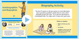 ks2 literacy biography and autobiography autobiography and biography powerpoint biography